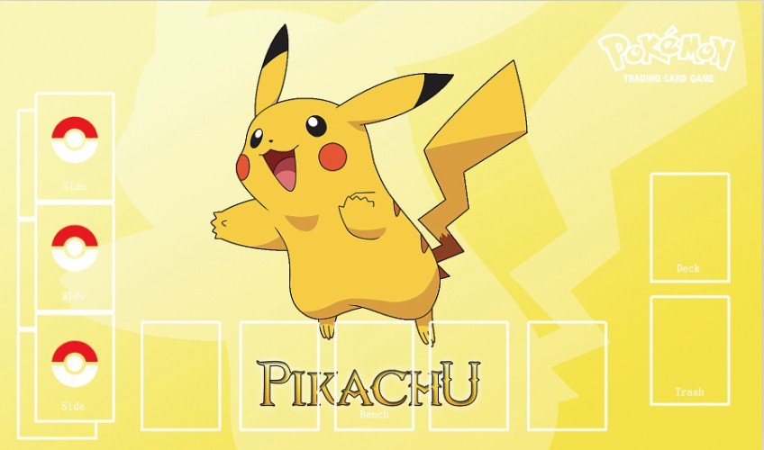 Takara Tomy PTCG Accessories Pokemon Card Game Table Playmat Pikachu Toys For Children