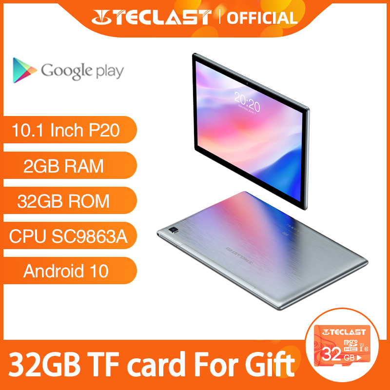 "Teclast P20 10.1 ""Android 10 Tablet SC9863A Octa Core 2Gb Ram 32Gb Rom 4G Netwerk Ai speed-Up Tabletten Pc Dual Wifi TYPE-C"