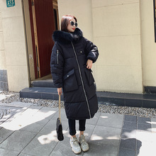 KMVEXO 2019 X-long Women Winter Jacket Cotton Padded Warm Thicken Large Size Coats Fashion New Arrival Parka Womens Jackets
