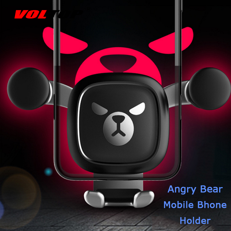 Bear Car Accessories Air Conditioner Outlet Gravity Phone Holder Ornament Car Interior Supplies Mobile Phone Support-in Ornaments from Automobiles & Motorcycles