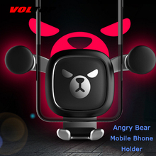 Bear Car Accessories Air Conditioner Outlet Gravity Phone Holder Ornament Car Interior Supplies Mobile Phone Support