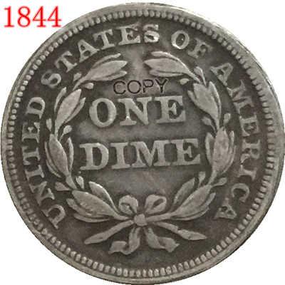 USA 1846 يجلس ليبرتي الدايم نسخة عملات