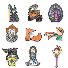 V108 Le Petit Prince and Fox Maleficent Metal Enamel Pins and Brooches Fashion Lapel Pin Backpack Bags Badge Collection Gifts v134 home alone metal enamel pins and brooches fashion lapel pin backpack bags badge collection gifts