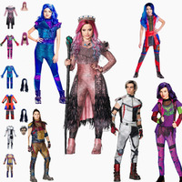 Kids/women Halloween costume for Men adult cosplay Descendants 3 Evie Mal Audrey Jay Carlos costumes funny party 3DJumpsuits