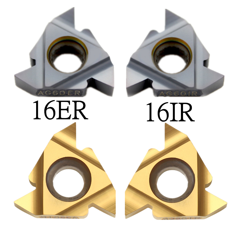 DORLIONA 10pcs 16ER AG60 Carbide Threading Inserts Turning Tool One Piece