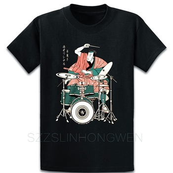 Drummer Samurai Music Rock My Favorite Band Strong T Shirt Humor Character Tee Shirt Plus Size 5xl Cool Summer Style Shirt