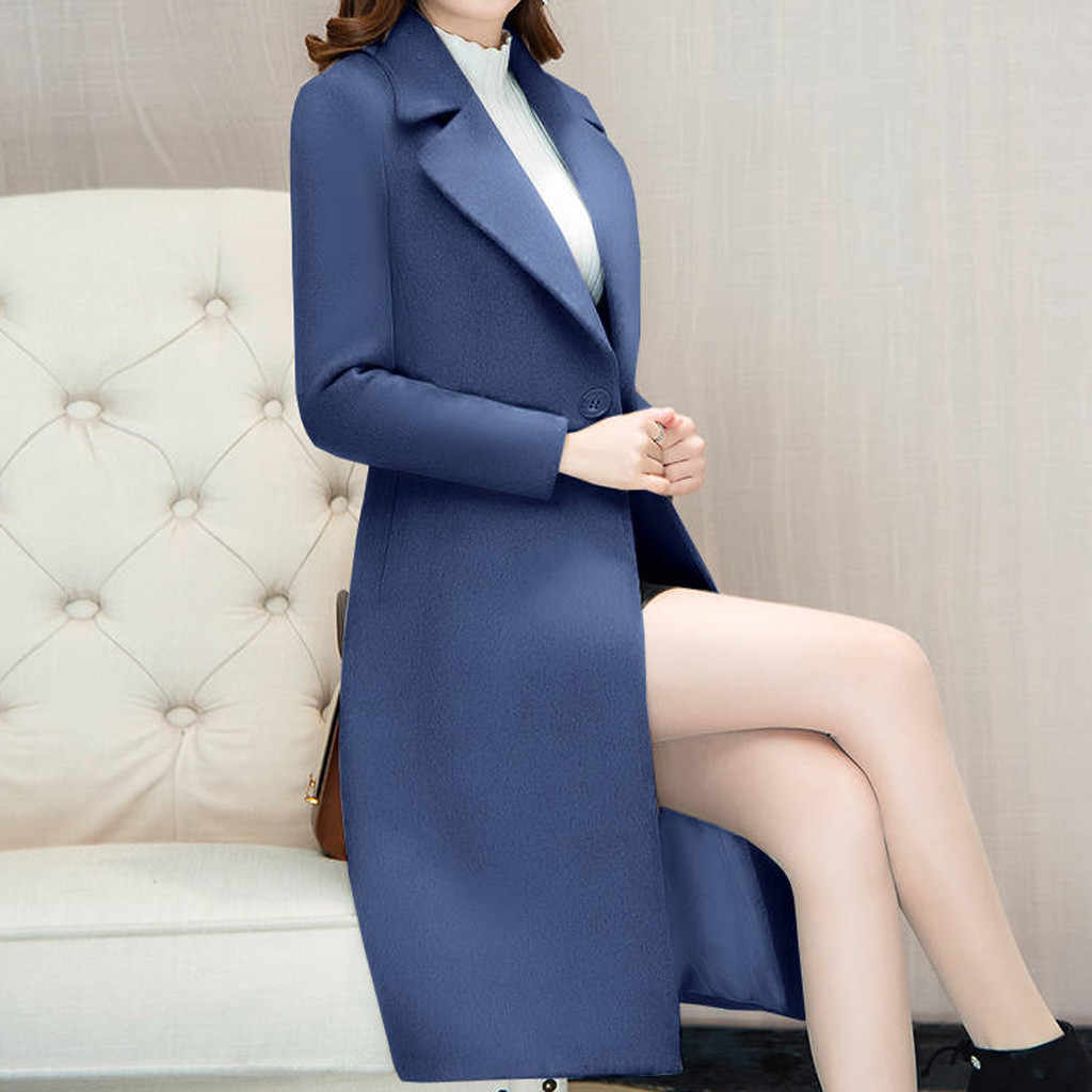 2019 Nieuwe Vrouwen Bovenkleding Herfst Winter Kleding Mode Warme Wollen Blends Slanke Vrouwelijke Elegante Double Breasted Wollen Jas # J30