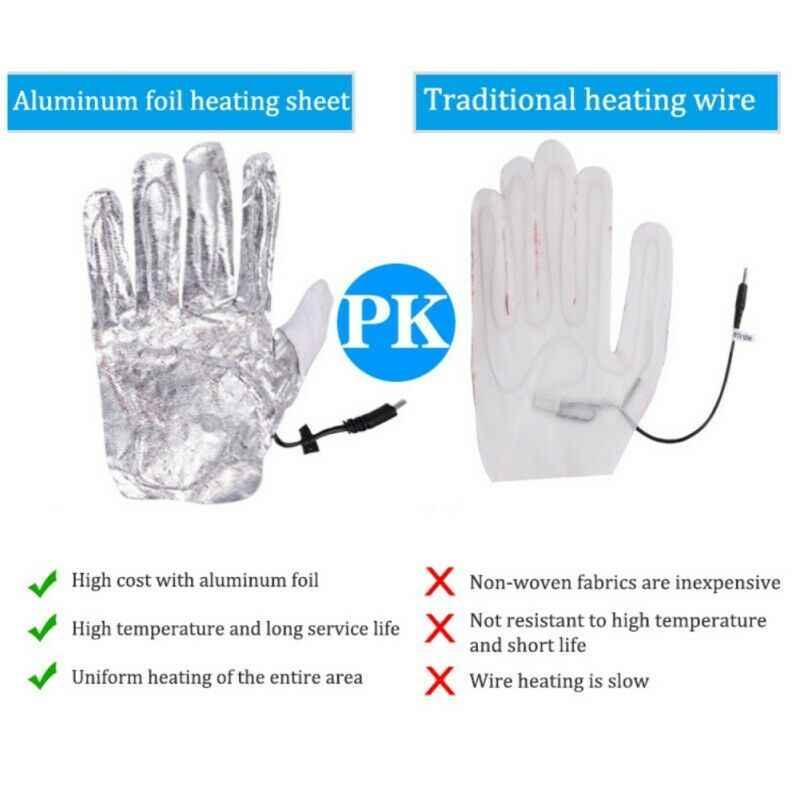 Перчатки с электроподогревом, велосипедные теплые зимние лыжные перчатки с плюшевой подкладкой, кожаные перчатки с подогревом и питанием от USB, Черные Водонепроницаемые