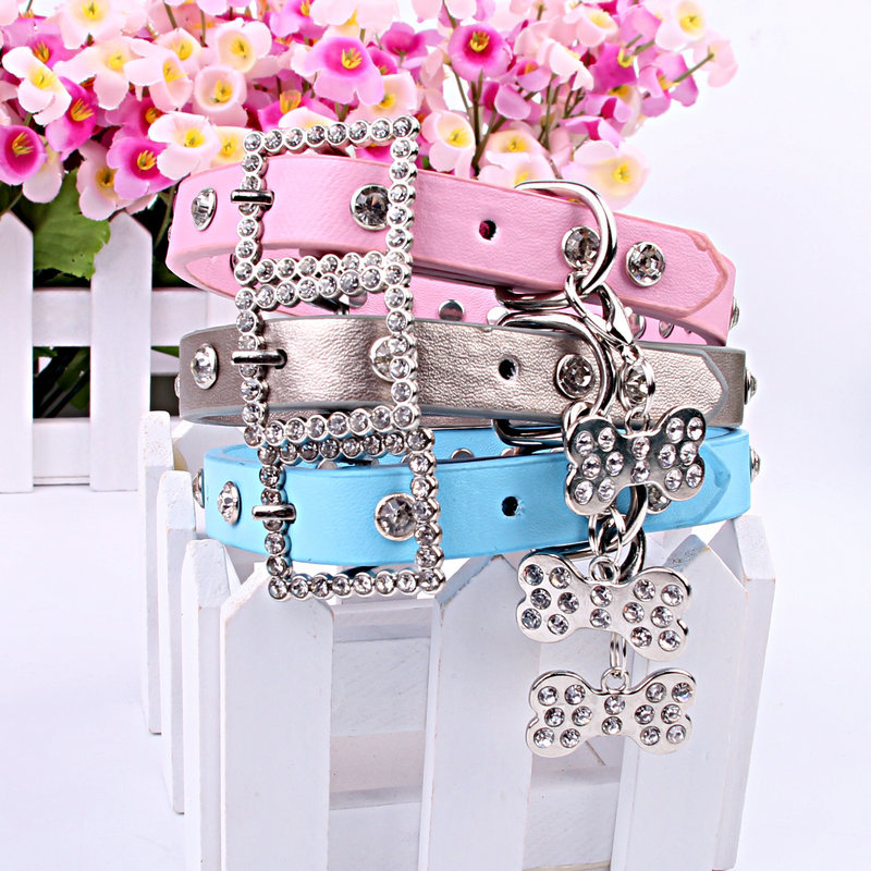 Special Offer Pet Collar With Diamond Dog Neck Ring Collar Teddy Bichon Puppy Hanging Drill Neck Ring