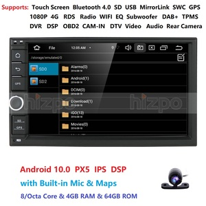 Image 2 - 4GRAM 64ROM 8Cores 7 Android 10.0 Auto Radio 2DIN Universal Car NO DVD player GPS Stereo Audio Head unit Support Bluetooth DAB