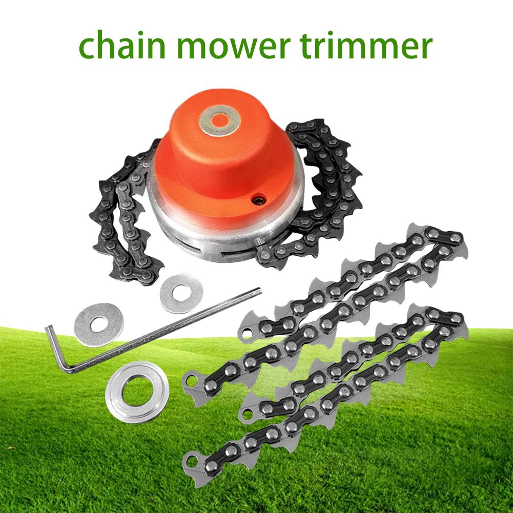 New Universal Lawn Mower Trimmer Head Coil Chains 65Mn Brush Cutter Garden Grass Trimming Machine Brush Cutter For Lawn Mower