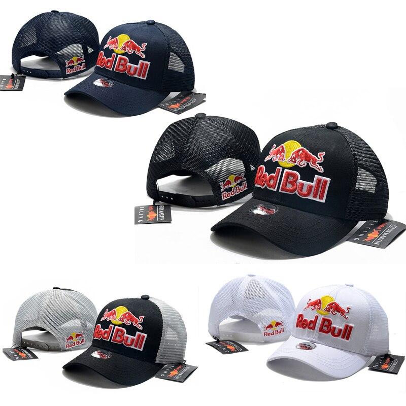 Кепка Red Bull для мужчин и женщин, регулируемая бейсболка для мотоспорта