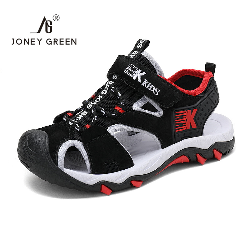 2020 Kids Shoes Summer Pu Leather Closed Toe Rubber School Shoes Breathable Open Toe  Camouflage Casual Boys Girls Sport  Sandal