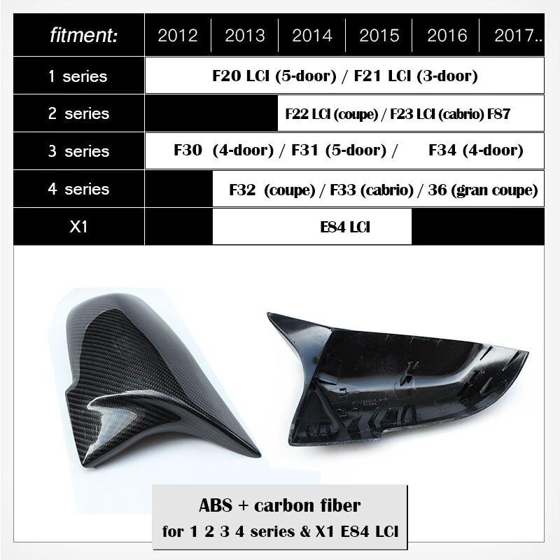 Karbonfaser 2017 Topauto TOP-Auto Seitenspiegel-Abdeckung f/ür BMW 2er-Serie F45 F46 Gran Active Tourer 2015