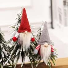 Рождественские куклы без лица плюшевая подвеска Рождественская