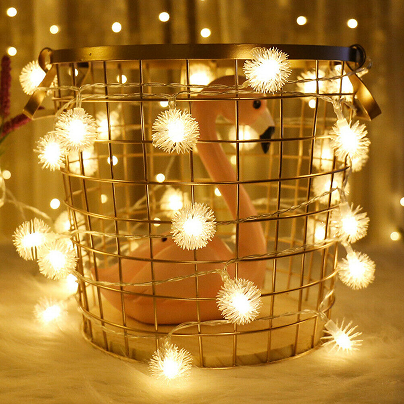 led Dandelion Hairball light string Holiday Decoration warm white lights Halloween LED wire Light christmas decorations for home