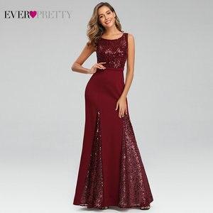 Image 3 - Sexy Meerjungfrau Abendkleider Lange Immer Ziemlich Pailletten V ausschnitt Side Split Sleeveless Sparkle Formale Party Kleider Abendkleider 2020