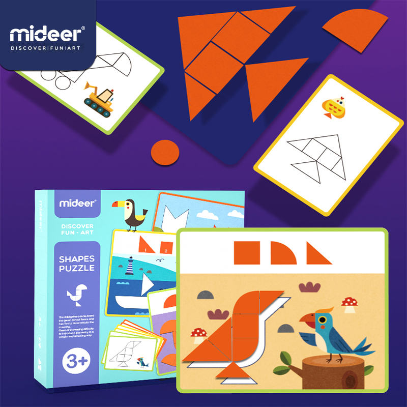 Mideer Children's Geometric Cognitive Wooden Thinking Training Baby Jigsaw Puzzle Early Education Toy Gifts For Children