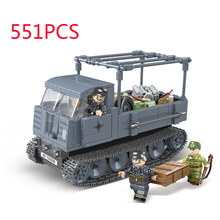 WW2 Military German Sdkfz 7 Halftrack Transport Vehicle ROS/03 Building Blocks Military Figures weapon parts Kits Model Blocks ohs tamiya 35169 1 35 german king tiger panzerkampfwagen vi sd kfz 182 military assembly afv model building kits g