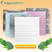 Kaguyahime 3D Brick Wall Stickers DIY Waterproof Self-Adhesive Wallpaper TV Backdrop Decor Corner Line Wallpaper For Living Room