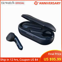 Ticwatch TicPods 2 TWS Earphone Qualcomm QCC3026 IPX4 Waterproof & Sweatproof Bluetooth 5.0 aptX Noise Cancelling Charging Case