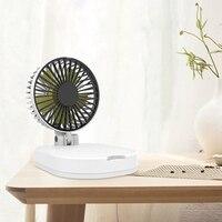 5000Mah Usb Kleinen Ventilator Klapp Tragbare Mobile Power Mini Fan Drahtlose Ladegerät Lade Schatz Fan-in Ventilatoren aus Haushaltsgeräte bei