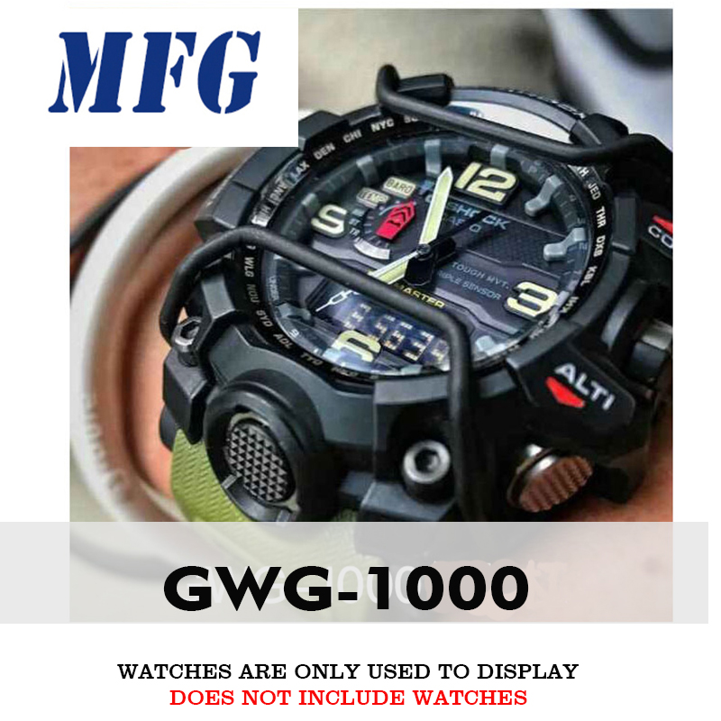 MFG GWG1000 Watch Accessories Case Protection Bar Rings/Watch Case Bumper For Csio Gshock Metal Stainless Steel For Men / Women