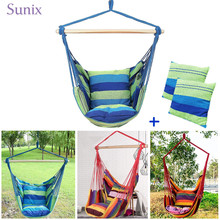 Hammocks Chair Swing Chair Seat Travel Camping Garden Indoor Outdoor Hammock Adults Kids Portable Hanging Rope Hammock