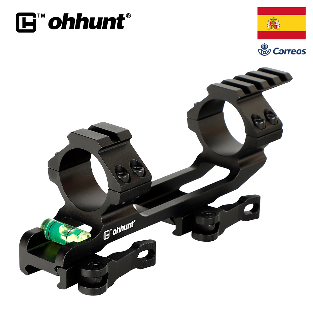 Ohhunt QD 1 Inch 30mm Rings Integral Hunting Scope Mount Picatinny Rail Ar15 Ak 47 Bracket For Optical Sight With Bubble Level