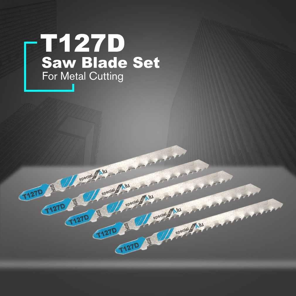 5 шт./компл. T127D пилы ножовочное полотно набор поршневых лобзик лезвие для жесткого металла пилы режущий инструмент