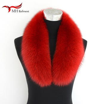 2020 new 100% real fox fur collar ladies furry fall/winter women's scarf neck warm genuine fashion luxury coat collar scarf image