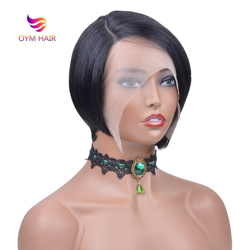 Short Bob L Part Lace Wig Brazilian Remy Straight Bob Lace Human Hair Wigs For Black Women Short Wigs Human Hair Lace Wig