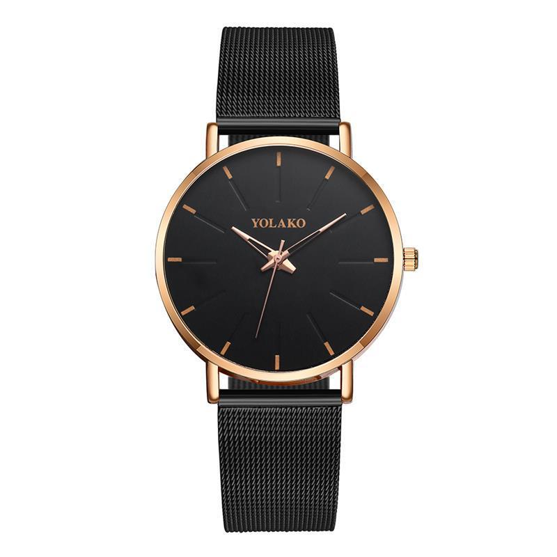 EBay wish Lazada trill popular contracted ultrathin model of simple atmospheric monocular steel band quartz watch(China)