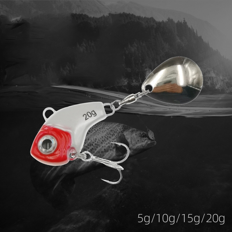 1Pcs Rotating Metal VIB vibration Bait Spinner Spoon Fishing Lures 5/10/15/20g Jigs Trout Winter Fishing Hard Baits Tackle Pesca 5