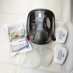 Image 1 - 6800 Gas Masker Set Volledige Gezicht Gezichtsmasker Respirator Voor Schilderen Spuiten Dezelfde 3M 6800