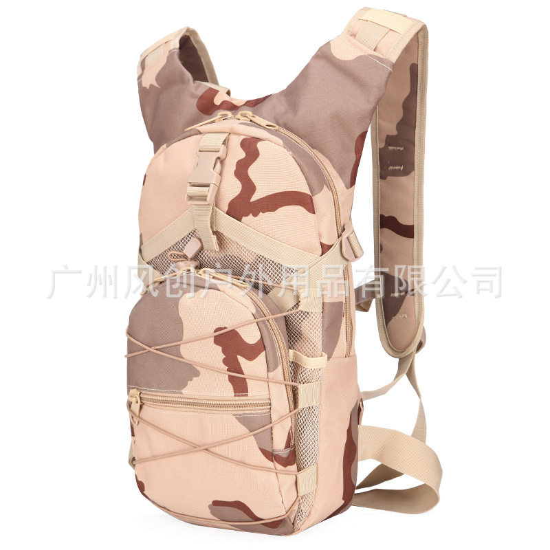 New Style 006 Riding Backpack Outdoor Casual Small Backpack Hiking Bag Schoolbag Camouflage Oxford Cloth Backpack