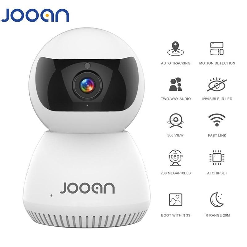 JOOAN IP камера беспроводная AI Tuya умная IP камера автоматическое отслеживание с полным дуплексным двухсторонним интерком для видеонаблюдения
