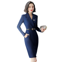 Professional Dresses Autumn New Fashion Long Sleeve Office OL plus size women