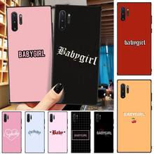 Customized Initial Letter Cover Black Soft Shell Phone Case For Samsung Galaxy Note3 4 5 7 8 9 10 Pro M10 20 30 A3 2 310 6