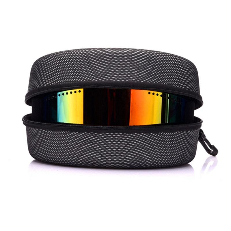 EVA Ski Goggles Case Winter Snowmobile Snowboard Glasses Sunglasses Dust Zipper Hard Box Ski Mask Case Glasses Storage Box