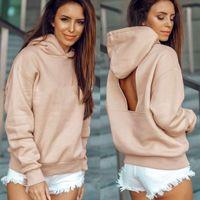 2019 Hot Sale sexy Hollow Out Backless Pullovers Casual Sweatshirts Women Hoodies Sweatshirts Korean Hoodie Sweatshirt for Women