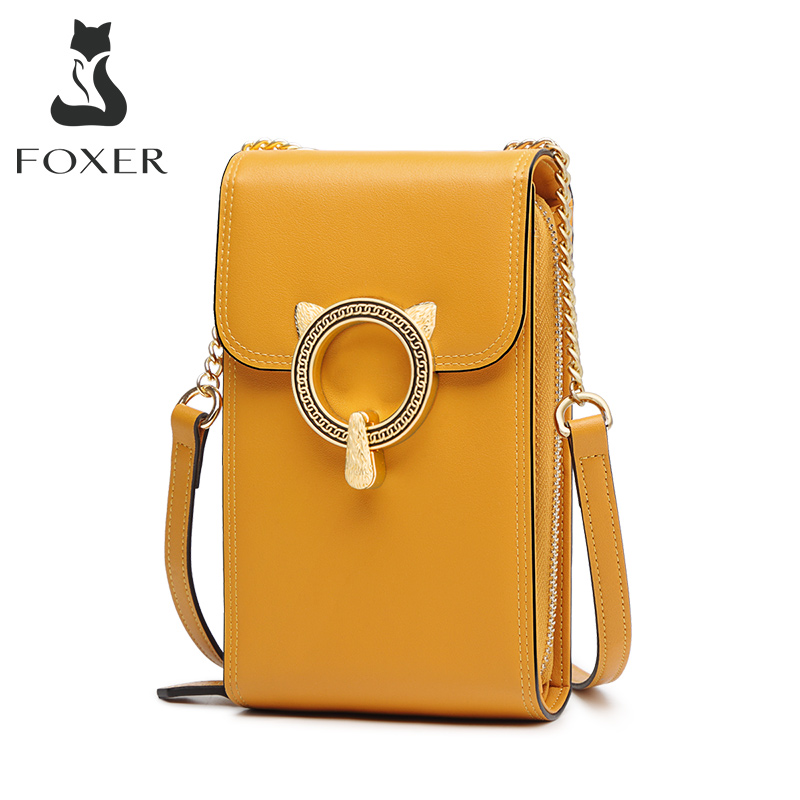 FOXER Women Cellphone Bags Girl Mini Crossbody Bag High Quality Small Flap Fashion Female Crossbody Bag Lady Phone Bag Qute Bags