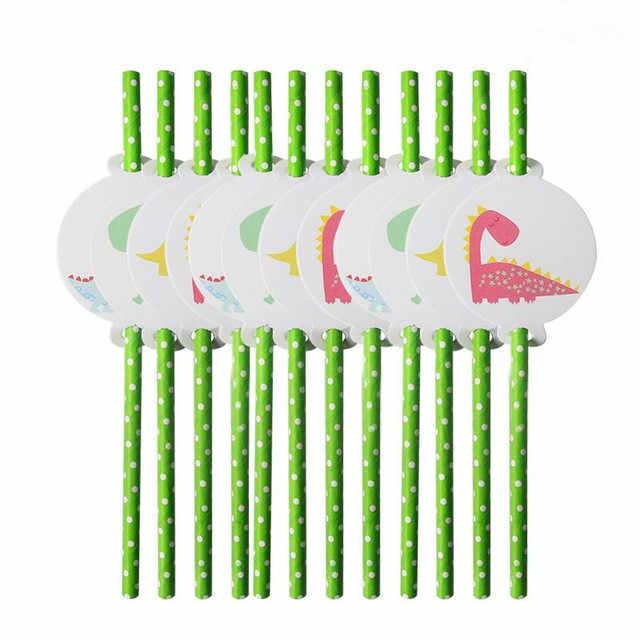 ธีมไดโนเสาร์ชุดชุดกระดาษทิ้งถ้วยจานผ้าปูโต๊ะเค้ก Topper Happy 1ST วันเกิด Party Supplies สำหรับชาย