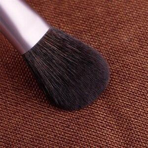 Image 5 - Conjunto de pincéis de maquiagem, kit com 14 pincéis de maquiagem de pelo natural de cabra, pó de madeira, para esfumar blush, sombra, cosméticos