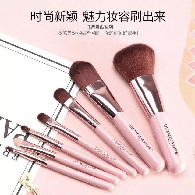 Juego de brochas para maquillaje de pelo sintético de alta calidad marca ZOREYA 24 Uds. - 3