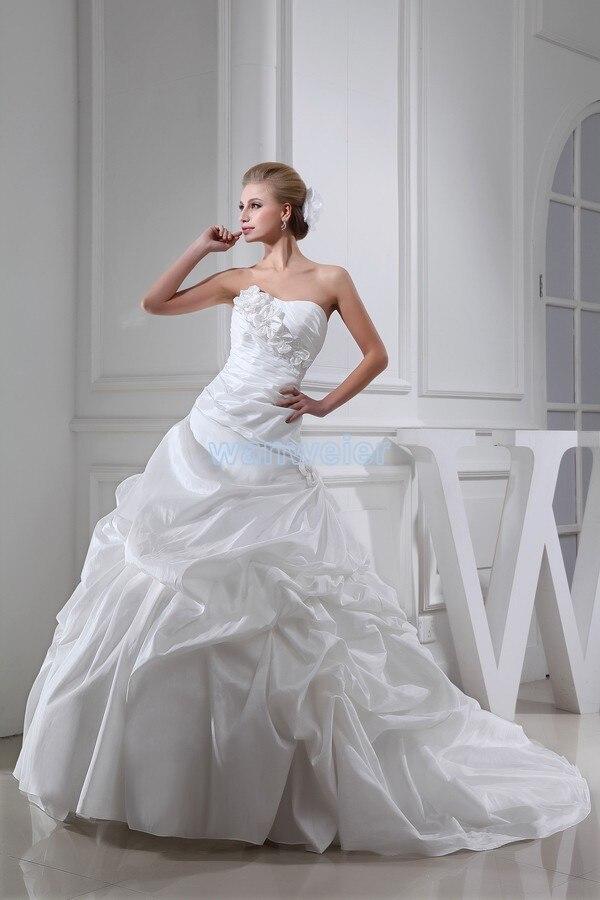 Free Shipping 2016 New Design Custom Size Luxury Dress Handmade Flowers Bridal Gown Marry Dress White Plus Size Wedding Dress