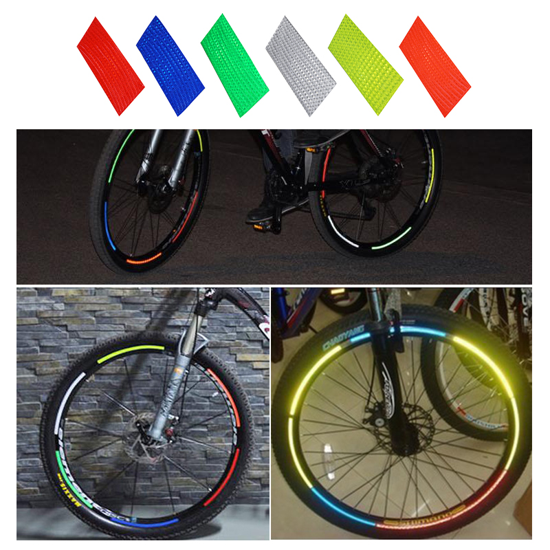 MTB Bike Bicycle Cycling Reflective Stickers Security Wheel Rim Decal Tape 2018