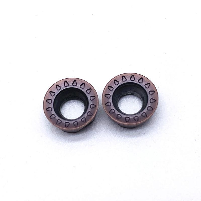 Купить с кэшбэком 10Pcs Milling Tools RPMT10T3 MO E VP15TF Carbide inserts Cutting Tool CNC Tools Lathe tools Lathe cutter