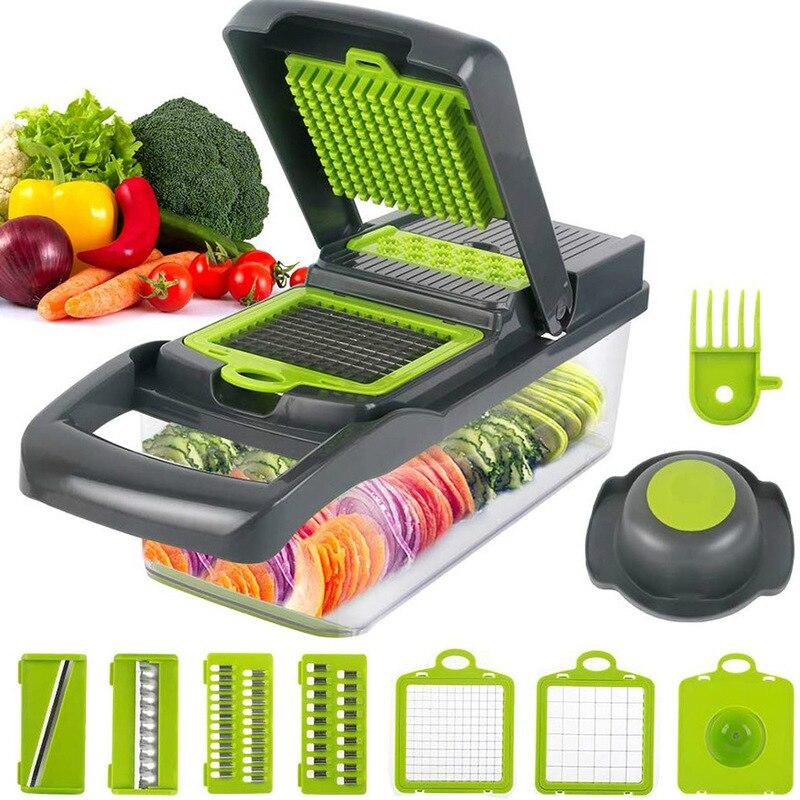 Кухонные аксессуары, устройство для резки фруктов, терка, измельчители, сливная корзина, Слайсеры 8 в 1, гаджеты