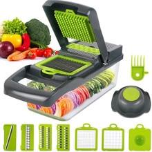 Coupe-légumes multifonctionnel 8 en 1, accessoires de cuisine, trancheuse à fruits, râpe, panier de vidange, Gadgets
